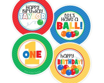 Ball Cupcake Toppers, DIY Cupcake Toppers, Printable Cupcake Toppers, Party Circles :No.436
