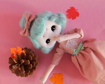 Ooak doll handmade Little Penelope - art doll - shabby chic