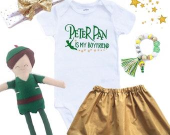 Peter Pan Is My Boyfiend Baby, Kids, Girls, Adult, Ladies Bodysuit, Tee or Tank Top T Shirt