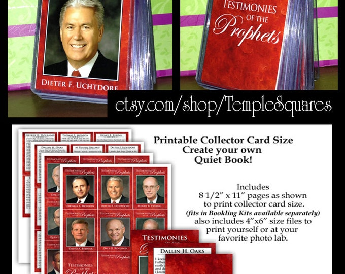 "PRINTABLES - Graphic Service - ""Testimonies of the Prophets"" 2015 Resizing Free Resources to printable 4x6 and Collector Card Sizes"