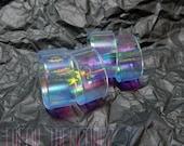 Rainbow holographic resin flat band kawaii soft grunge pastel goth holo pastelkei mermaid