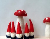 Christmas Gnomes -5 Small Red and Blue gnomes - Waldorf Inspired