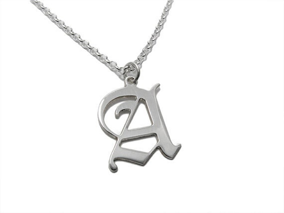 personalized men necklace initial necklace by namemymonogram With letter necklace for guys