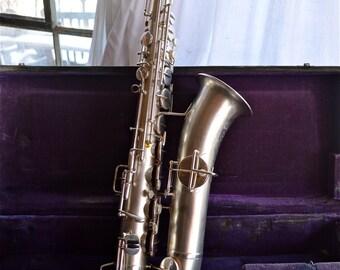 Mint Buescher truetone silver plated c-melody saxophone