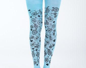 I love my bike tights, bicycle tights, cycling tights, printed tights