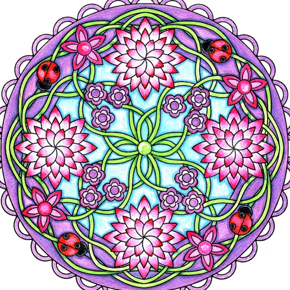 flower mandala coloring page to print and color nature. Black Bedroom Furniture Sets. Home Design Ideas
