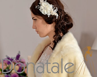 Bridal Hair Accessory Bridal hair comb Wedding hair comb  Hair comb Lace hair comb Wedding hair piece- DIANNE