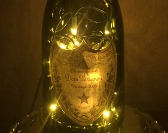 Dom Perignon authentic bottle Wedding Birthday Anniversary Gift Collectable Lamp Champagne Bar Decor