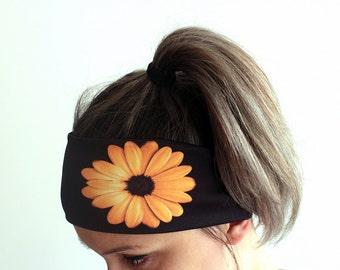 Yoga Headband - Fitness Headband - Workout Headband - Running Headband - Boho Headband - Elastic Headband - A Flower Headband Y12