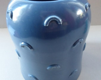 Attractive & Unusual Susie Cooper ART DECO  Studio Pottery Vase with Shaped Nodules to the Exterior and impressed signature to the base