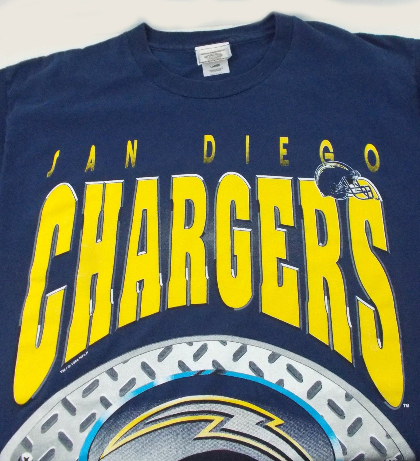San Diego Chargers Clothes: 1994 San Diego Chargers All Over Print Vintage T Shirt Large
