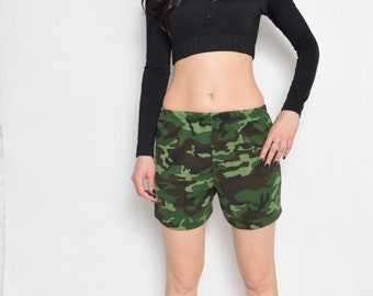 Vintage 90's Camouflage Shorts / Military Shorts