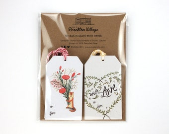 Gift tag set - chipmunk & with love / TAG-SET-A