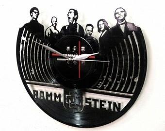 Rammstein Wall Art -Vinyl LP Record Clock or Framed Vinyl-Great Rock'n'Roll Gift ,Vinyl Wall Clock,Wall records clock