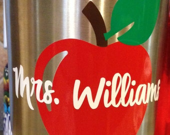 Teacher Apple Decal