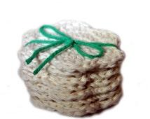 Crochet Scrubbies, Flower Facial Cloths, Facial Scrubbies, Cotton Face Scrubbies, makeup pads