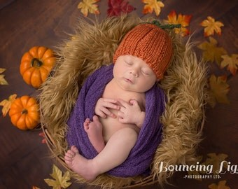 Pumpkin Baby Hat • Pumpkin Newborn Hat • Pumpkin Infant Hat • Pumpkin Baby Shower Gift • New Baby Gift