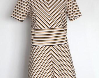 Mod 60's tunic chevron dress L