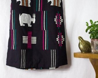 Vintage Guatemalan Skirt Black