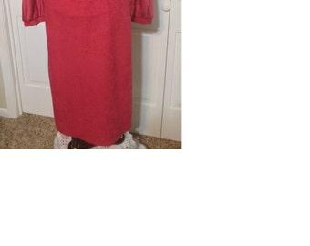 "Vintage ""Mad Men"" style maroon dress size medium"