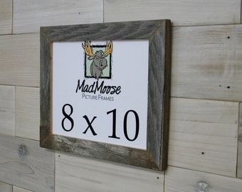 """8x10 Thin x 1.25"""" Barn Wood Picture Frame"""