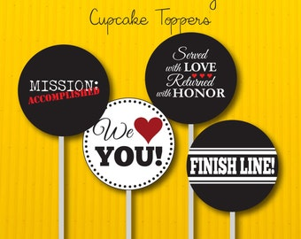Return Missionary Welcome Home Printable Cupcake Toppers