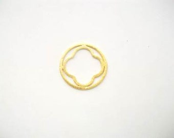 Plated Copper Component, Gold Hoop, Silver Hoop, Earring Component, Jewelry Making Supply, Jewelry Finding, Quatrefoil, Hoop Earring