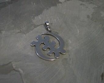 Lg. Gye Nyame Pendant -Sterling Silver
