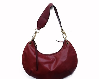 GUCCI Burgundy Leather Hobo bag