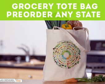 Seasonal Food Guide Tote Bag