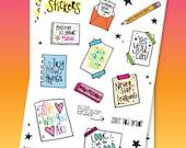 Self Love Sticker Sheet - Inspiring Stickers - Positive Stickers - Love Yourself Stickers