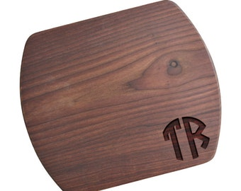 SHIPS FAST, Two Initial Monogram Cutting Board, Engraved Monogram Cutting Board, Custom Monogram Cutting Board, Wedding Cutting Board, MW14