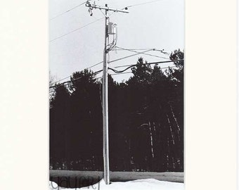 Black and White Photography - Land of Misfit Toys Collection - Black and White - Telephone Pole