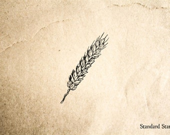 Wheat Rubber Stamp - 1 x 2 inches