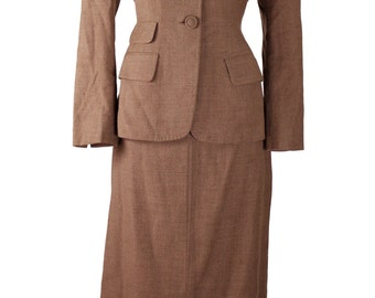 Vintage 1940s Tailorbrooke Suit/ WWll Era / Fitted Jacket / Pencil Skirt / Retro Hourglass Pin Up Style /Perfect for WAC Reinactment