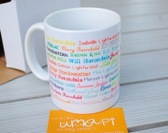Shadowhunters characters name mug Cup The Mortal Instruments