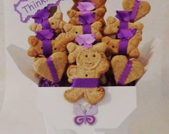 Dog biscuit treat gift basket - dog gift basket - dog treats - New puppy Gift - dog get well gift - dog birthday - personalized dog treats