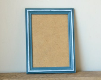Slate Blue Photo Frame with White Accents 7x5 inches