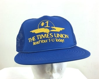 """Royal Blue """"The Times Union"""" Trucker Hat"""