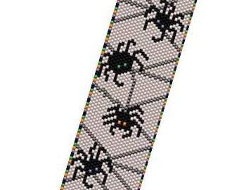 Halloween Peyote Bracelet Pattern - Spider Soup
