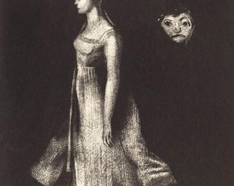 "Odilon Redon : ""Hantise (Obsession)"" (1894) - Giclee Fine Art Print"