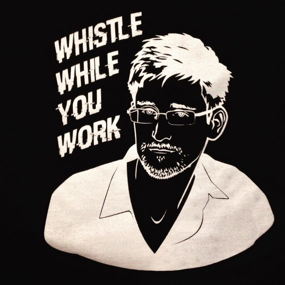 Whistle While You Work (Edward Snowden) T-Shirt