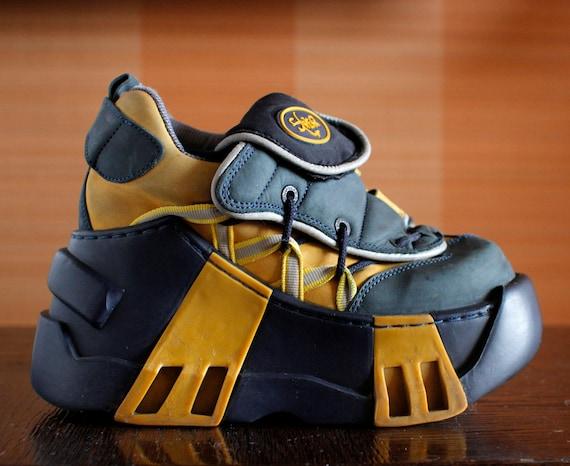 swear unique club kid techno platform shoes