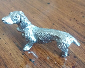 Miniature Metal Dachshund figure