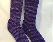 CUSTOM Hand Cranked, Hand Dyed, Superwash Merino/Nylon Blend Knit Socks - You choose the color, you choose the size!
