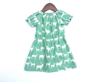 Baby Girl Dresses - Organic Baby - 18 Month Girl Clothing - Toddler  Dress - Deer Baby Clothes - Girl's Dresses - Baby Outfit For Girls