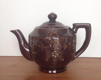 Vintage Japanese Redware Teapot