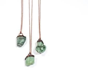 Genuine emerald crystal necklace | Real emerald necklace | Emerald gemstone necklace | May birthstone jewelry | May birthstone necklace