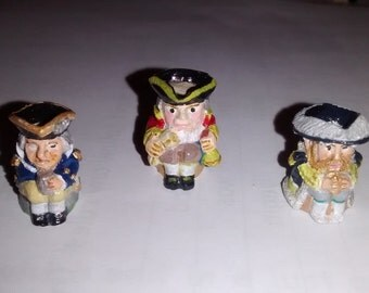 12th Scale dolls house Toby Jugs Henry VIII, Nelson & Town Crier