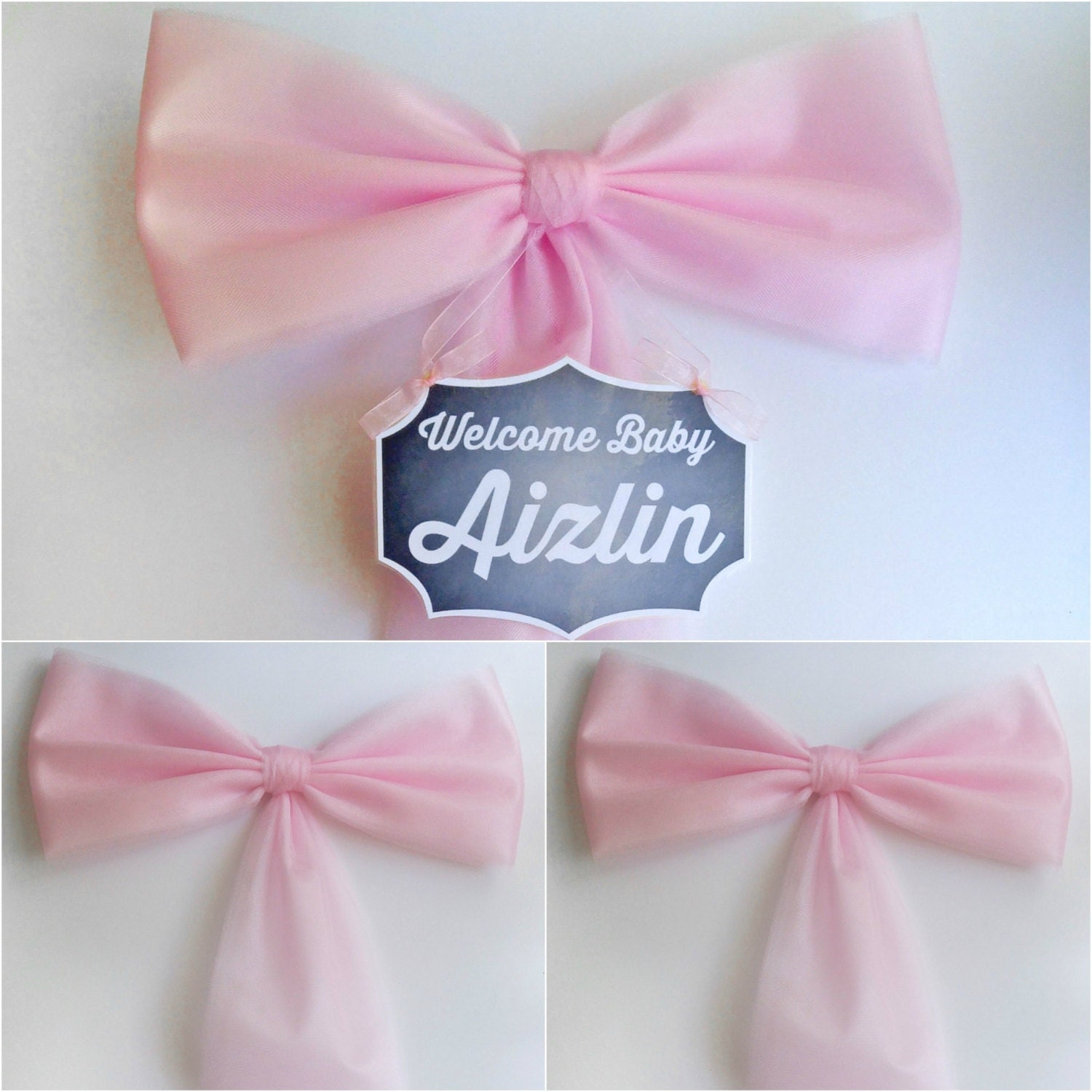 Girl Baby Shower Decoration Set Pink Baby Shower Bow